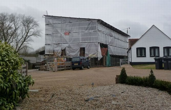 Scaffolding erected